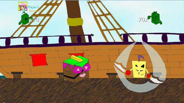 Screenshot de Pirate Cubes
