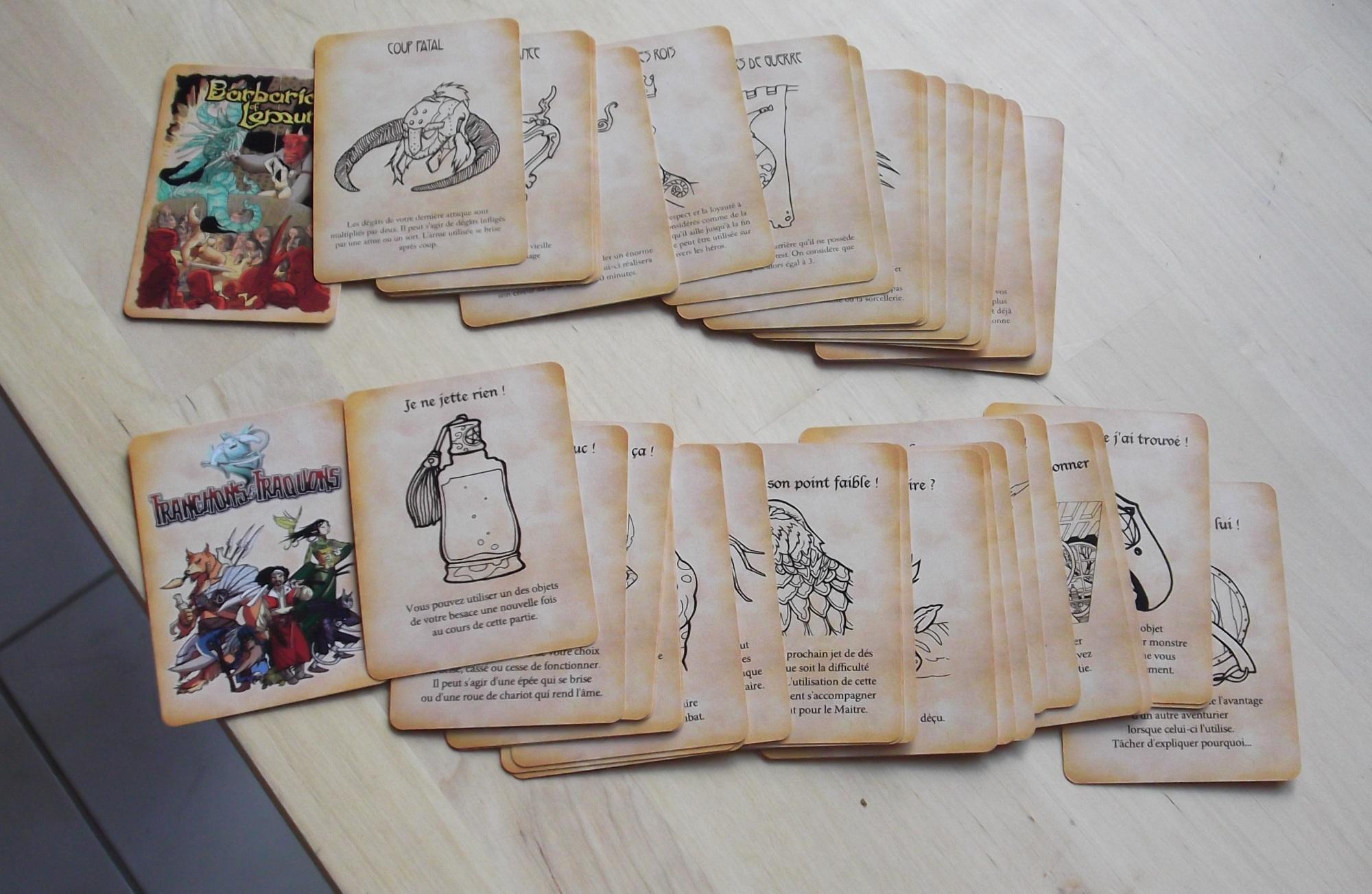 Cartes pour Tranchons & Traquons
