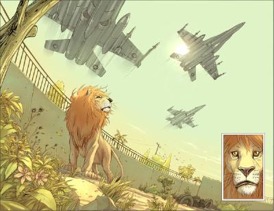 Zill, dans le zoo avant le bombardement