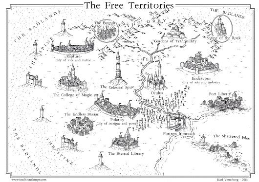 Cartes des Terres Libres